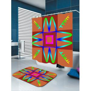 Art Grid Mouldproof Shower Curtain For Bathroom -