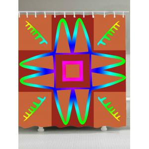 Art Grid Mouldproof Shower Curtain For Bathroom