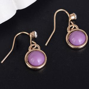 Faux Gem Drop Hook Earrings
