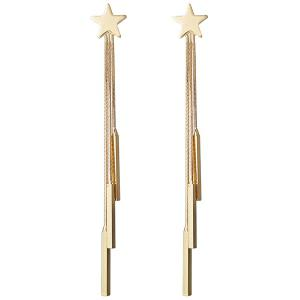Tiny Star Fringed Sticks Drop Earrings