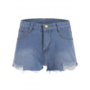 Mini Denim Ripped Shorts
