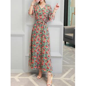Shell Print Bohemian Long Maxi Formal Dress - COLORMIX S