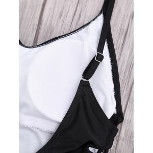 High Cut Backless Lace Up Swimsuit - BLACK XL