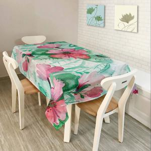 Oil Painting Floral Print Waterproof Table Cloth - Colorful - W60 Inch * L84 Inch