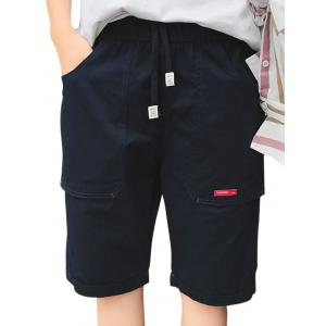 Big Pocket Label Design Casual Shorts