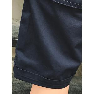 Big Pocket Label Design Casual Shorts - PURPLISH BLUE 2XL
