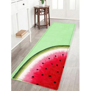 Watermelon Pattern Anti-skid Water Absorbing Area Rug - Watermelon Red - W16 Inch * L47 Inch