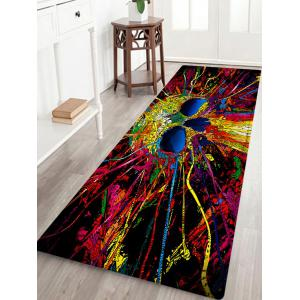 Skull Pattern Anti-skid Water Absorption Area Rug - Colormix - W24 Inch * L71 Inch