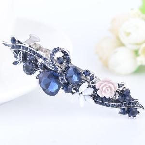 Floral Inlay Inlay Tiny Rose Embellished Barrette -