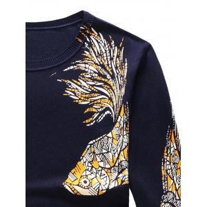 Long Sleeve Fish and Graphic Print Sweater -