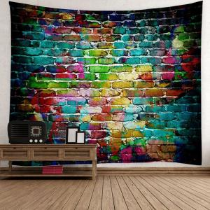 Dazzling Brick Wall Hanging Bedroom Dorm Tapestry - Colorful - W79 Inch * L79 Inch