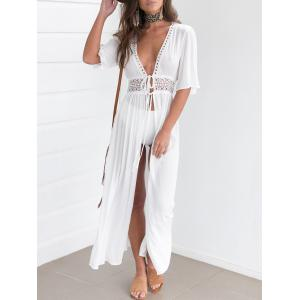 Maxi Lace Insert Cover Up Dress