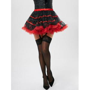 Tier Light Up Coupe de couleur Tutu Cosplay jupe - Rouge TAILLE MOYENNE