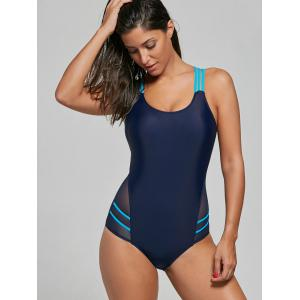 One Piece Straps Sports Swimsuit -
