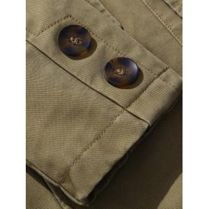 Single Breasted Snap Button Pocket Coat -