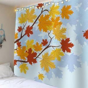 Maple Leaf Velvet Wall Art Hanging Tapestry -