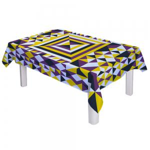 Dining Decor Geometry Print Dustproof Table Cloth -