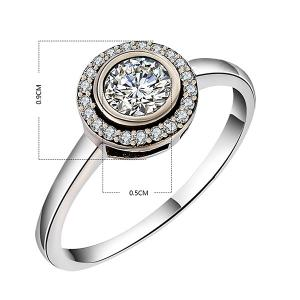 Sterling Silver Faux Diamond Finger Ring -