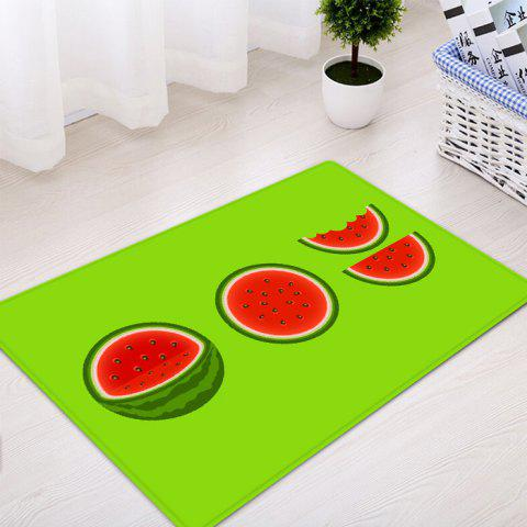 Trendy Watermelon Pattern Water Absorption Indoor Outdoor Area Rug - W16 INCH * L24 INCH GREEN Mobile