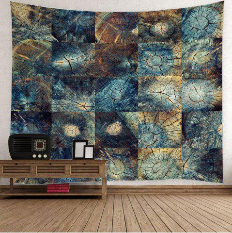 Latest Stump Texture Fabric Throw Wall Hanging Tapestry - W59 INCH * L51 INCH COLORMIX Mobile