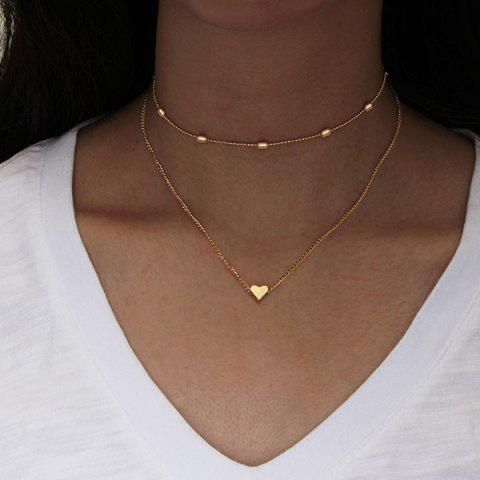 New Heart Layered Collarbone Necklace