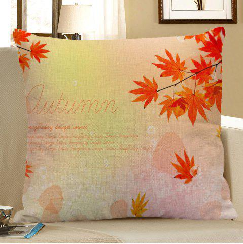 Store Maple Leaf Letter Decorative Linen Pillow Case - 45*45CM ORANGE RED Mobile