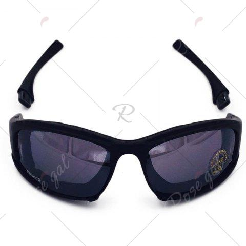 Latest Outdoor Tactical Detachable Bike Glasses - BLACK  Mobile