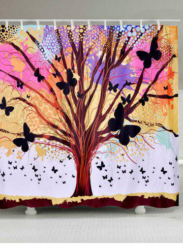 Shop Tree of Life Butterfly Waterproof Fabric Shower Curtain COLORFUL W59 INCH * L71 INCH