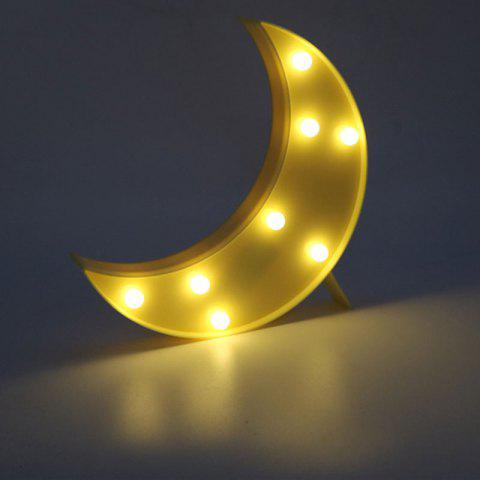 Online Home Decor LED Moon Table Night Light - YELLOW  Mobile