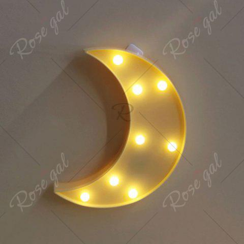 Outfits Home Decor LED Moon Table Night Light - YELLOW  Mobile