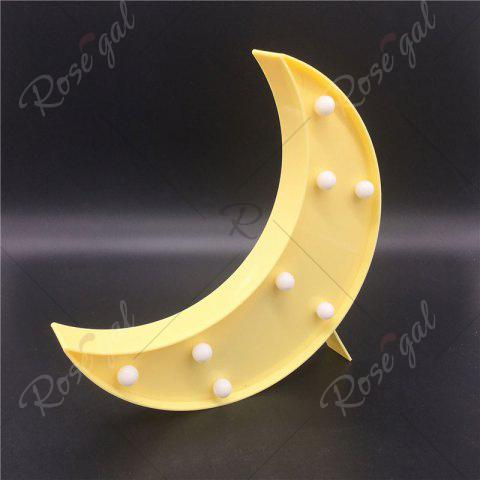 Fancy Home Decor LED Moon Table Night Light - YELLOW  Mobile