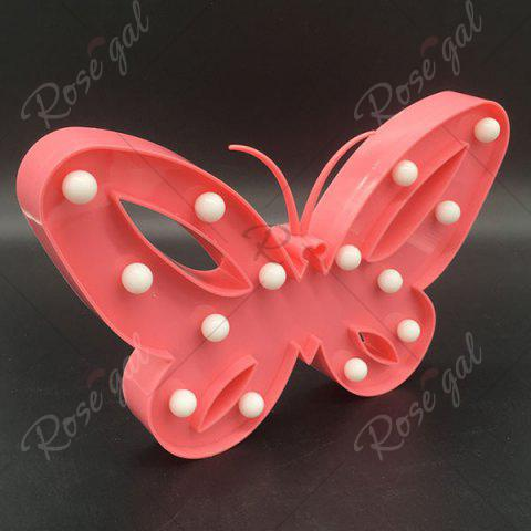 Fancy Home Decor Butterfly LED Night Light - RED  Mobile