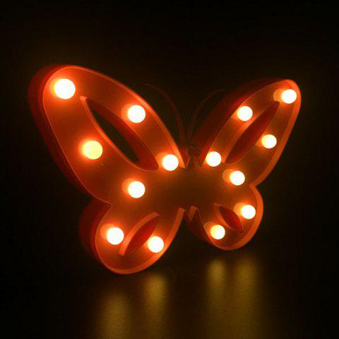 Home Decor Butterfly LED Night Light Rouge
