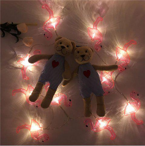 Store LED Flamingo Fairy String Lights for Home Decor RED