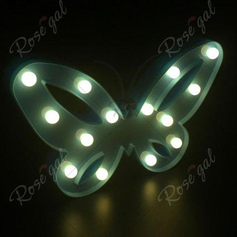 Outfit Home Decor Butterfly LED Night Light - BLUE  Mobile