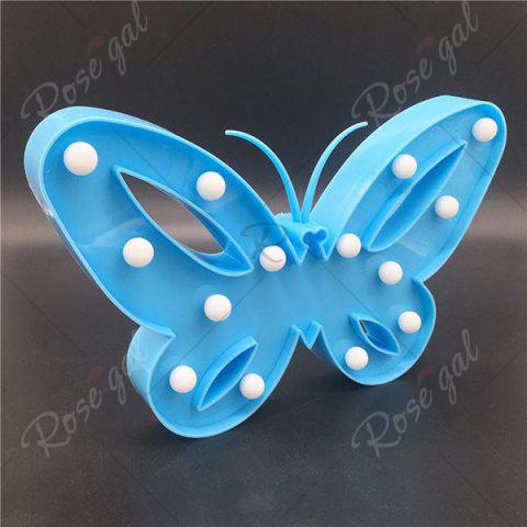 Affordable Home Decor Butterfly LED Night Light - BLUE  Mobile
