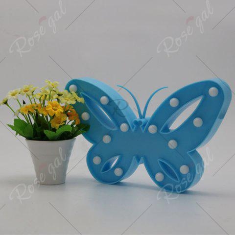 Latest Home Decor Butterfly LED Night Light - BLUE  Mobile