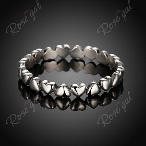 Latest Sterling Silver Heart Circle Finger Ring - 7 SILVER Mobile