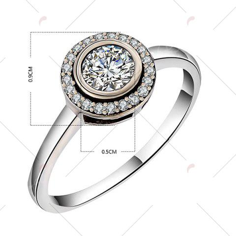 Sale Sterling Silver Faux Diamond Finger Ring - 7 SILVER Mobile