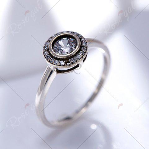 Best Sterling Silver Faux Diamond Finger Ring - 7 SILVER Mobile