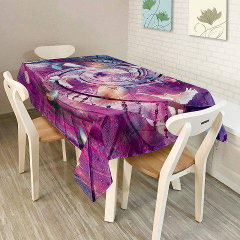 Store Oilproof Waterproof Pigeon Digital Printing Table Cloth - W54 INCH * L54 INCH PURPLISH RED Mobile