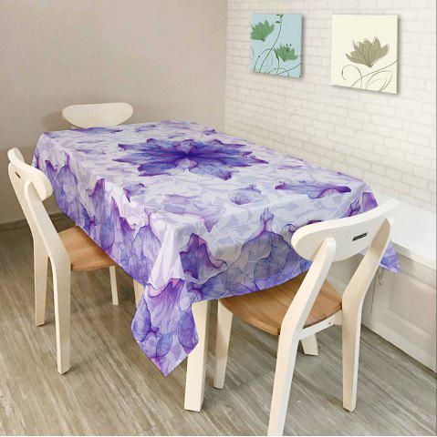 Fashion Floral Fabric Dust Prevention Table Cloth - W60 INCH * L84 INCH PURPLE Mobile
