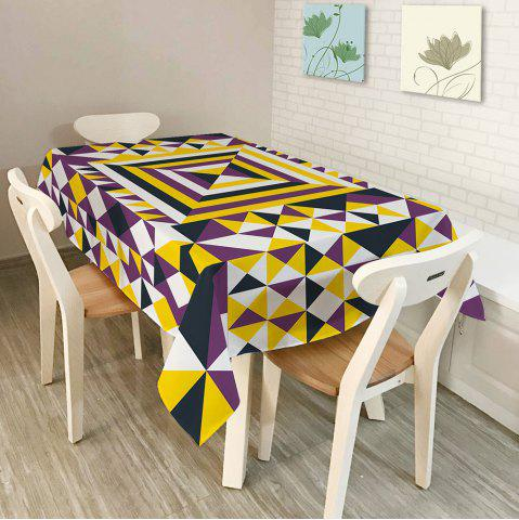 Outfits Dining Decor Geometry Print Dustproof Table Cloth COLORMIX W54 INCH * L72 INCH