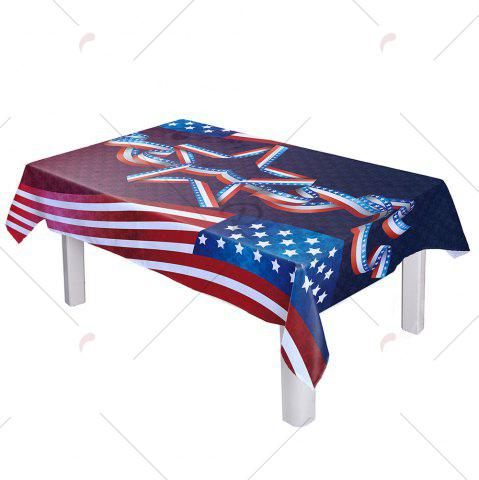 Latest Dustproof Polyester American Flag Kitchen Table Cloth - W54 INCH * L54 INCH COLORMIX Mobile