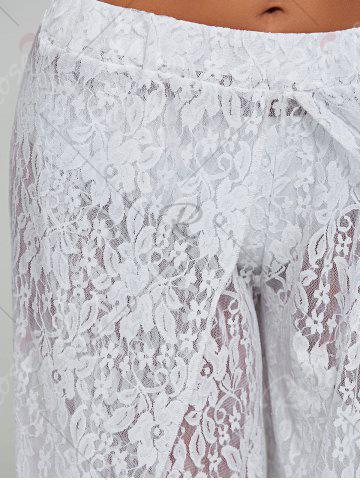 Outfits Lace Tulip Swim Cover Up Pants - S WHITE Mobile