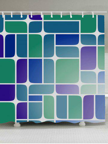 New Mildewproof Geometry Print Bathroom Shower Curtain COLORMIX W59 INCH * L71 INCH