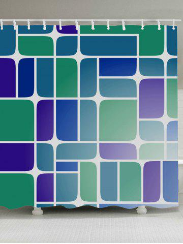 Discount Mildewproof Geometry Print Bathroom Shower Curtain COLORMIX W71 INCH * L71 INCH