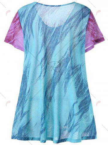 Outfits Printed Plus Size Tunic Top - 2XL COLORMIX Mobile