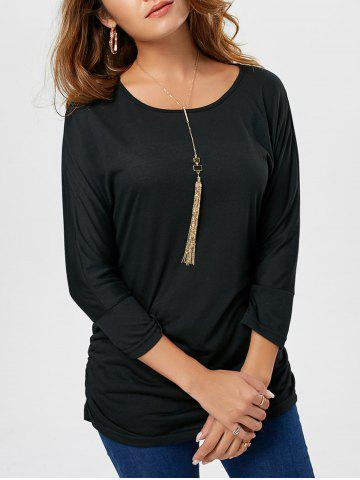 Outfit Long Sleeve Scrunch Tunic Sweater BLACK M