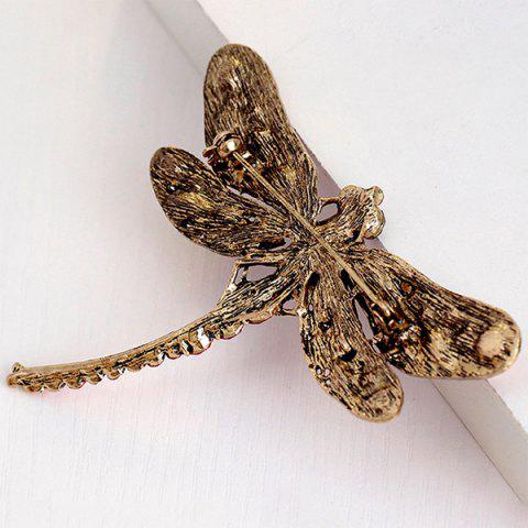 Online Faux Gem Inlaid Dragonfly Design Vintage Brooch - TUTTI FRUTTI  Mobile